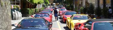 Piazza Brembana manifestazioni eventi raduno auto Ferrari.