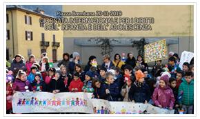 Piazza Brembana manifestazioni eventi giornata internazionale per i diritti dell'infanzia.